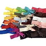 20 件混合颜色 Ykk 数字 4.5 线圈手提包拉链或钱包拉链长拉美国制造乙烯基包 27 inches CFC-451 DFL E 5/8
