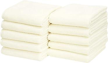 毛巾研究所 洗臉毛巾 米白色 約34×80cm 每天都可使用的簡約風格 IZW-V1002-10P 10個裝