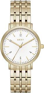DKNY 女式石英不锈钢休闲手表,颜色:金色调(型号:NY2503)