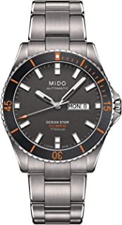 Mido 美度 Ocean Star 海洋之星 CAPTAIN V m026.430.44.061.00 灰色 / 银色钛合金模拟自动男式手表