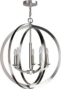 Woodbridge Lighting 14425 Lola 吊灯,金属铜 镍色 14425STN