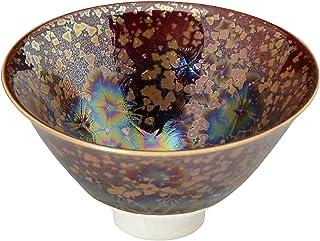京烧 清水烧 杯 一饮杯 棕色 直径8.5厘米 陶窑(木盒装) 赤耀虹彩 陶858