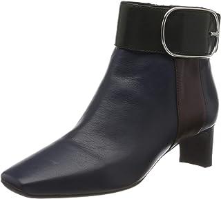 Geox 女士 D Vivyanne 中帮 C 及踝靴 Blue (Blue/Dk Burgundy C4e7j) 2.5 UK