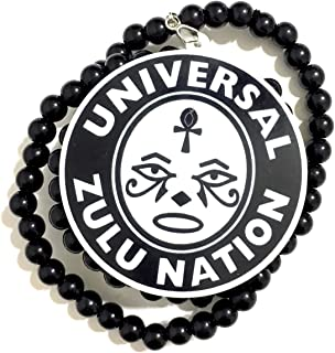 PRK 14 Zulu Nation 项链嘻哈元素 UZN 智慧脸挂坠