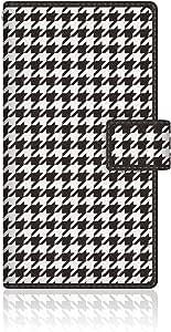 CaseMarket 【手册式】 AQUOS PHONE SERIE (SHL22) 超薄外壳 针脚模型 [黑色 滴状 千鸟格花纹] SHL22-VCM2S2126