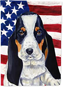 USA American Flag with Basset Hound Flag 多色 小号