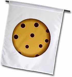 janna salak 设计 Sweet–大 chocolate CHIP 饼干卡通–旗帜 12 x 18 inch Garden Flag
