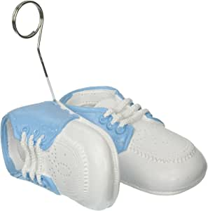 Beistle 50947-LB 1-Pack Baby Shoes Photo/Balloon Holder