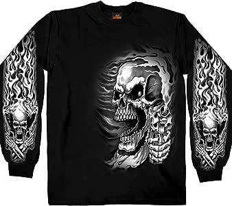 Hot Leathers 男式刺客长袖 T 恤 中 黑色 GMS2076 BLACK; M