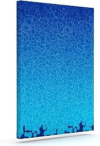 "Kess InHouse Frederic Levy-Hadida""泡蓝色""户外帆布墙画 16"" x 20"" 蓝色 FH1005BAC03"