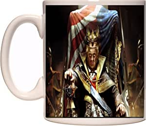 OMGsoFRESH Trump 新奇马克杯 Donald Trump on His Throne 16 oz - Holds 2 cups of coffee