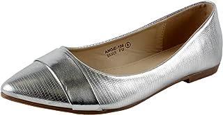 BELLA marie angie-106女式尖头船懒人 BAND 装饰漆皮平底鞋