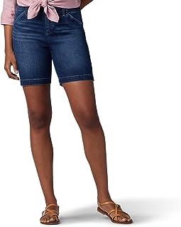 LEE 女式常規版型斜紋棉布休閑短褲