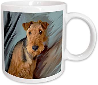 mug_4169_2 Dogs Airedale - Airdale Terrier Portrait - Mugs - 15oz Mug