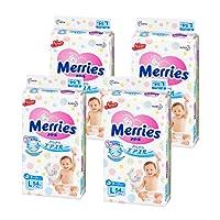 日本Merries 花王 妙而舒纸尿裤L54(4包,整箱装) (日本进口 保税区发货)(包邮包税)