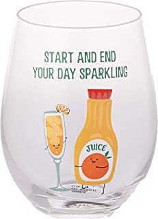 Pavilion Gift Company 74876 Start and End Your Day Sparkling-Mimosa 香槟色和橙色果汁 520 毫升无*杯