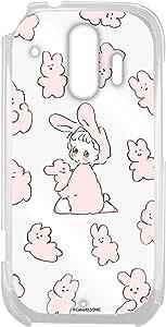 Caho 壳 透明 硬质 印刷 兔子 背景透明 6_ らくらくスマートフォン me F-01L 兔子E