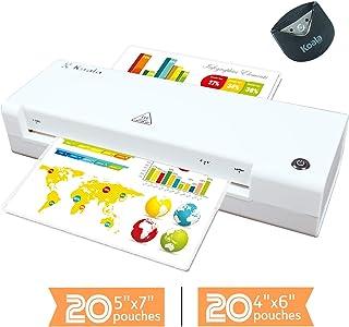 考拉 3合1塑封套装 塑封机热塑封机 A4 包括 40 个塑封袋,转角机 快速加热 适用于家庭、办公室、学校使用 白色