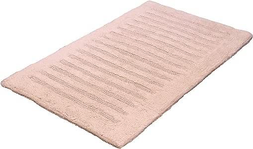 Provence 浴室地毯 - 双面可用 | 优质 * 棉,柔软,长毛绒,吸水性强| 非常厚实的浴室地毯 53.34 x 86.36 厘米| 条纹设计 天然