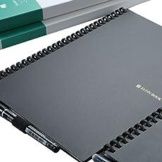 ELFINBOOK X系列智能可重复书写笔记本子日记本 App备份学生电子记事本 (二代A5/100页 黑色)