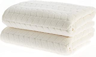 Bagno Milano Luxe 系列土耳其毛巾,* 土耳其棉,速干豪华毛绒毛巾,土耳其制造 奶油色 2 pcs Bath Towel Set