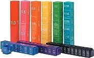 Learning Resources(英国直接供货)LSP2509-UKM 分数塔立方块同等物套装
