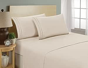 Elegant comfort® 1500支链条设计埃及长绒棉品质奢华丝滑柔软防*抗皱不褪色2PC 枕头 case- 所有尺码和颜色