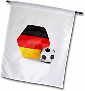 carsten reisinger illustrations–插图–德国足球–旗帜 12 x 18 inch Garden Flag