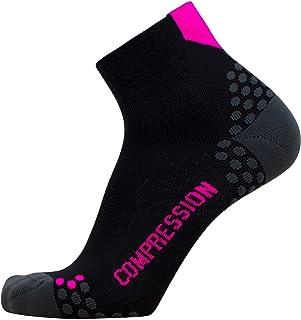 Pure Athlete 压力跑步短袜 - 吸湿排汗,点垫