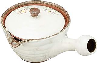 茶壶 时尚 : 有田烧 粉引草花 (U) 茶壶 Japanese Tea pot Pottery/Size(cm) 17.5x12x9/No:317852