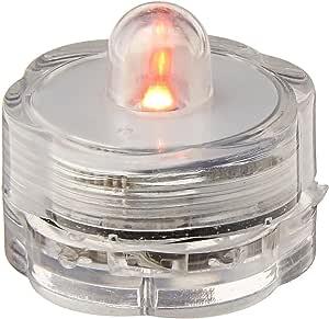 Blue Dot Trading LED 电池供电潜水茶灯,琥珀色,10 只装 橙色 10 Orange submersible tea lights 10 pack