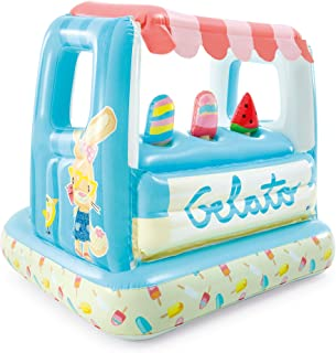Intex 冰淇淋架充气玩具屋和游泳池,适合 2-6 岁儿童