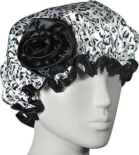 Kella Milla 时尚缎面浴帽 黑白豹 A64298C