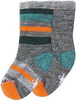 Smartwool Sock 样品-2 只装 -学步儿童和婴儿 Medium Gray Heather/Mediterranean H 3T