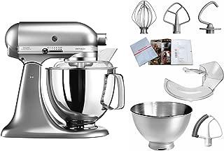 KitchenAid 凱膳怡 5KSM175PSENK,ARTISAN 廚師機,配備專業裝備,亞光拉絲金屬