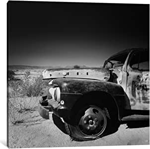 "iCanvasART 1 Piece Namibia Rotten Car Canvas Print by Nina Papiorek, 18"" x 18""/1.5"" Depth"