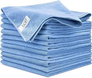 "Buff Pro 多面超细纤维毛巾 - 12 片装,优质清洁布,清洁、灰尘、吸水能力,大号 40.64 厘米 x 40.64 厘米 16""x16"""