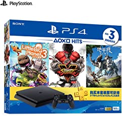 SONY 索尼 PlayStation 4 国行 PS4 2018夏季版大作套装 500GB 黑色 含3款游戏 电脑娱乐游戏主机 德邦/顺丰发货 默认开电子发票 可开专票