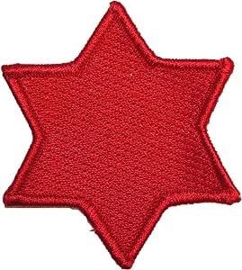 美国**五代、*六代和* 7 Inf Div 刺绣补丁,熨烫粘合剂 6th Red AO-USMilitaryPatches