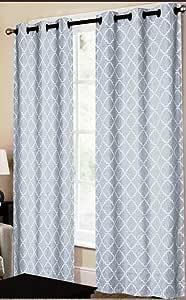 CHD Home Textiles Dagmara Curtain Panel, Blue