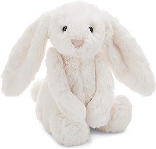Jellycat 動物毛絨玩偶 BASHFUL害羞系列之邦尼兔 中號 米色 12英寸(約高30.48cm)