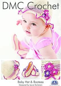 DMC 婴儿帽子和靴子钩针图案