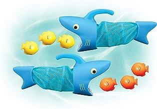 Melissa & Doug Sunny Patch 鯊魚Spark水池捕魚游戲,帶2張網和6條魚可捕