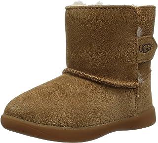 UGG 儿童 T Keelan 时尚靴子 栗色 12 M US 儿童
