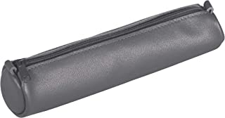 Clairefontaine Age 袋77034 C 笔袋小圆形长度18.5 x 4厘米直径制成羊皮革灰色