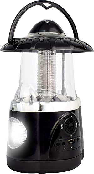 Northpoint 多功能蓝牙飓风灯和手电筒,带 FM 收音机、麦克风、12 个 LED 灯、4 个 LED 手电筒、露营灯、户外灯、紧急使用