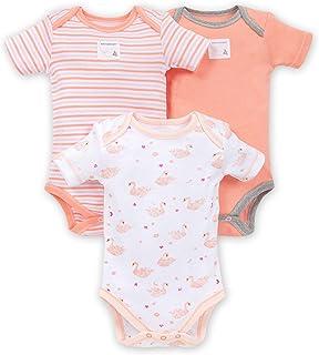 Burt's Bees 伯特的小蜜蜂婴儿连体衣,3 件装,长短袖连体衣,* *棉