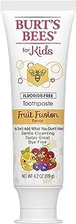 Burt's Bees 儿童牙膏,无氟,水果融合,4.2 盎司