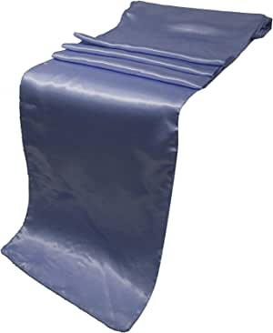 "ELINA'S Pack 婚礼 30.48 x 274.32 厘米缎桌布婚礼宴会装饰 紫色(Lavender)""12 X 108"" INCH"
