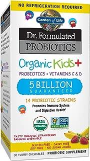 Garden of Life - Dr. 兒童+——酸菌和促進系統 擱架穩定 30 Counts 30